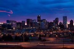 Im Stadtzentrum gelegenes Denver Stockbild