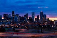 Im Stadtzentrum gelegenes Denver Lizenzfreie Stockfotos