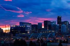 Im Stadtzentrum gelegenes Denver Lizenzfreies Stockfoto