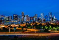 Im Stadtzentrum gelegenes Denver Lizenzfreies Stockbild
