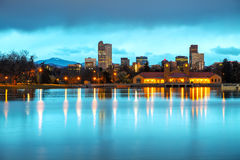 Im Stadtzentrum gelegenes Denver, Kolorado Stockbilder