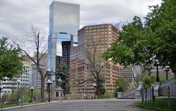 Im Stadtzentrum gelegenes Denver-Stadtbild Lizenzfreies Stockfoto