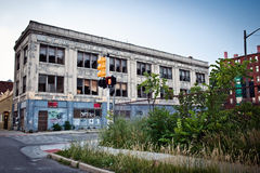 Im Stadtzentrum gelegenes Detroit Lizenzfreies Stockbild