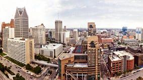 Im Stadtzentrum gelegenes Detroit Lizenzfreies Stockfoto