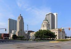 Im Stadtzentrum gelegenes Fort Wayne Stockbild