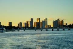 Im Stadtzentrum gelegenes Gebäude Miamis Stockbilder