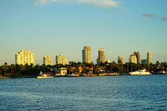 Im Stadtzentrum gelegenes Gebäude Miamis Stockfotos