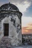 Im Stadtzentrum gelegenes historisches Gebäude. Cartagena de Indias, Kolumbien. stockfotografie