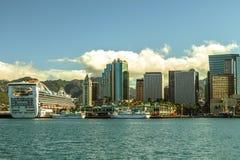 Im Stadtzentrum gelegenes Honolulu lizenzfreie stockfotos