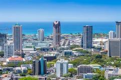 Im Stadtzentrum gelegenes Honolulu lizenzfreie stockfotografie