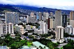 Im Stadtzentrum gelegenes Honolulu stockbilder