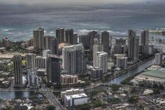 Im Stadtzentrum gelegenes Honolulu, Hawaii Stockfotos