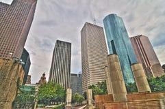 Im Stadtzentrum gelegenes Houston lizenzfreie stockbilder