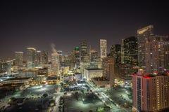 Im Stadtzentrum gelegenes Houston Skyline Stockfotografie
