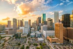 Im Stadtzentrum gelegenes Houston Skyline Lizenzfreie Stockfotografie