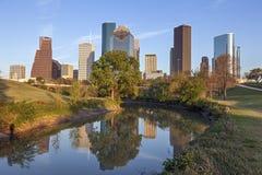 Im Stadtzentrum gelegenes Houston, Texas Lizenzfreies Stockbild