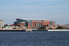 Im Stadtzentrum gelegenes Jacksonville, Florida entlang dem St Johns River Stockfotografie