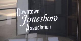 Im Stadtzentrum gelegenes Jonesboro, Arkansas-Vereinigung Stockbilder