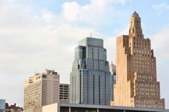 Im Stadtzentrum gelegenes Kansas City Stockbild