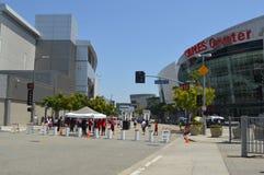 Im Stadtzentrum gelegenes LA Staples Centers Lizenzfreie Stockfotografie