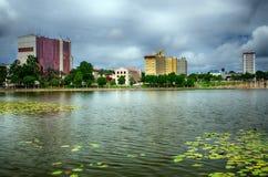Im Stadtzentrum gelegenes Lakeland, Florida Stockbilder