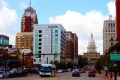 Im Stadtzentrum gelegenes Lansing Stockbild