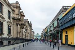 Im Stadtzentrum gelegenes Lima stockbilder