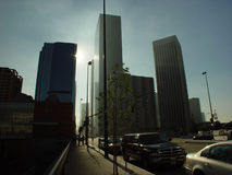 Im Stadtzentrum gelegenes Los Angeles Lizenzfreies Stockfoto