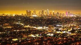 Im Stadtzentrum gelegenes Los Angeles bis zum Nacht lizenzfreies stockfoto