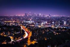 Im Stadtzentrum gelegenes Los Angeles horizontal Lizenzfreie Stockfotografie