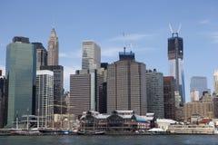 Im Stadtzentrum gelegenes Manhattan Lizenzfreie Stockfotos