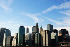Im Stadtzentrum gelegenes Manhattan an einem Wintertag Lizenzfreies Stockbild