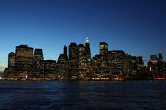 Im Stadtzentrum gelegenes Manhattan, New York Lizenzfreies Stockbild