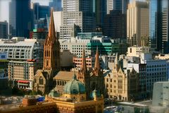 Melbourne im Stadtzentrum gelegen, Australien lizenzfreies stockfoto