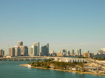 Im Stadtzentrum gelegenes Miami Lizenzfreies Stockfoto