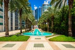 Im Stadtzentrum gelegenes Miami stockbilder