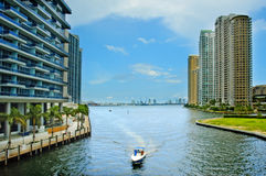 Im Stadtzentrum gelegenes Miami, Florida, USA stockfotografie