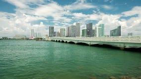 Im Stadtzentrum gelegenes Miami-Video stock footage