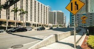 Im Stadtzentrum gelegenes Miami-Zeitspanne-Video stock footage