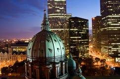 Im Stadtzentrum gelegenes Montreal Stockfotografie