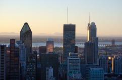 Im Stadtzentrum gelegenes Montreal Lizenzfreie Stockbilder