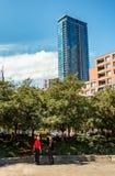 Im Stadtzentrum gelegenes Montreal Stockbild