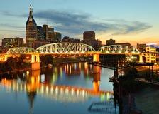 Im Stadtzentrum gelegenes Nashville lizenzfreie stockbilder