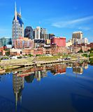 Im Stadtzentrum gelegenes Nashville stockbild