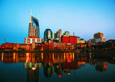 Im Stadtzentrum gelegenes Nashville-Stadtbild morgens stockfotos