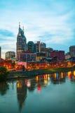 Im Stadtzentrum gelegenes Nashville-Stadtbild morgens lizenzfreies stockbild