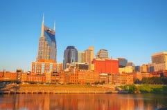 Im Stadtzentrum gelegenes Nashville-Stadtbild morgens stockbilder