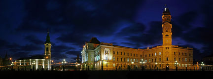 Im Stadtzentrum gelegenes Oradea Panorama lizenzfreies stockbild