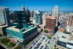 Im Stadtzentrum gelegenes Panorama Lizenzfreie Stockbilder