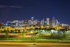 Im Stadtzentrum gelegenes Panorama Denvers, Colorado Stockfotografie